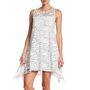 Robbie Bee – Lace Trapeze Dress- ivory black